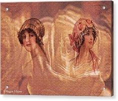 Vintage Victorian Rivals II Acrylic Print