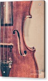 Vintage Violin Portrait 2 Acrylic Print