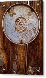 Vintage Vw Hubcap Acrylic Print