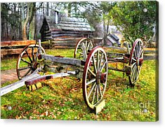 Vintage Wagon On Blue Ridge Parkway I Acrylic Print by Dan Carmichael