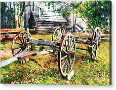 Vintage Wagon On Blue Ridge Parkway II Acrylic Print by Dan Carmichael
