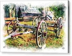 Vintage Wagon On Blue Ridge Parkway IIi Acrylic Print by Dan Carmichael