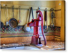 Vintage Water Pump Acrylic Print by Juli Scalzi
