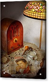 Vintage - What's On The Radio Tonight Acrylic Print by Mike Savad