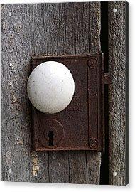 Vintage White Doorknob Acrylic Print