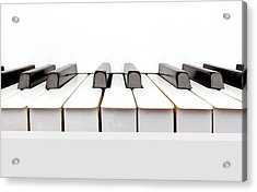 Vintage White Piano Acrylic Print by Kitty Ellis