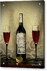 Vintage Wine Lovers Acrylic Print by Inspired Nature Photography Fine Art Photography
