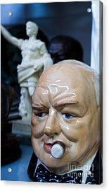 Vintage Winston Churchill Ceramic Head Acrylic Print