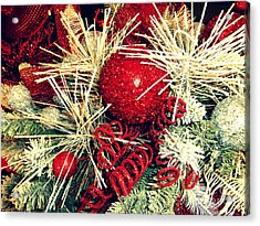 Vintage Winter Red  Acrylic Print by Janine Riley