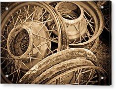 Vintage Wire Wheels Acrylic Print by Steve McKinzie