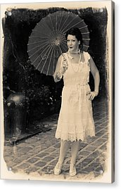 Vintage Woman Acrylic Print by Jim Poulos