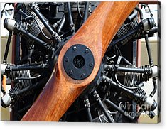 Vintage Wood Propeller - 7d15828 Acrylic Print by Wingsdomain Art and Photography