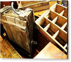 Vintage Wooden Boxes Acrylic Print