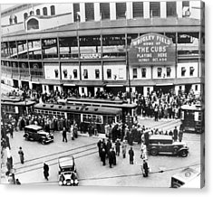 Vintage Wrigley Field Acrylic Print by Horsch Gallery