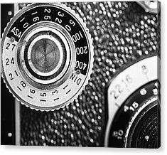 Vintage Yashica 635 Camera - Asa Dial Acrylic Print by Jon Woodhams