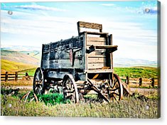 Vintaged Covered Wagon Acrylic Print by Athena Mckinzie
