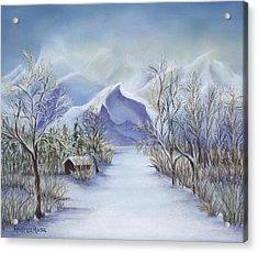 Vinter Fjell Acrylic Print by Andrea Rosa