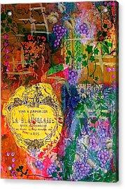 Vintner Label Acrylic Print by Bellesouth Studio