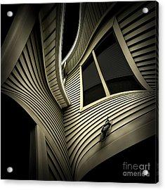 Vinyl Geometry Acrylic Print by Walt Foegelle