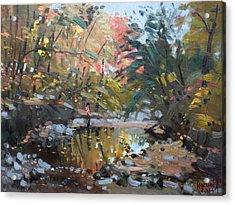 Viola At The Creek Acrylic Print
