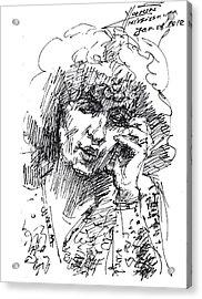 Viola On The Phone Acrylic Print by Ylli Haruni