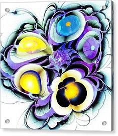 Viola Tricolor Acrylic Print by Anastasiya Malakhova