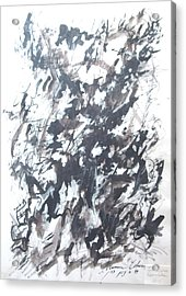 Acrylic Print featuring the painting Violence by Esther Newman-Cohen