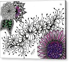 Violet Algae Acrylic Print by Silvia Ricciardi