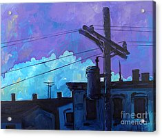 Violet And Purple Give Me The Blues Acrylic Print