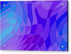 Violet Blue Abstract Acrylic Print by L Brown