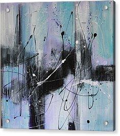 Violet Fields Acrylic Print by Lauren Petit