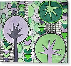 Violet-green Acrylic Print by Home Art