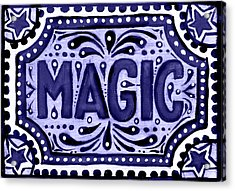Violet Magic  Acrylic Print