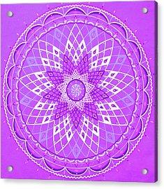 Violet Mandala Acrylic Print by Vlatka Kelc