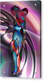 Violet Night Acrylic Print by Kiki Art