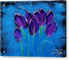 Violet Posy Acrylic Print