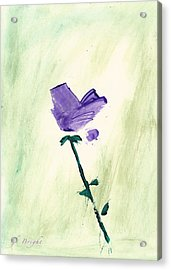 Violet Solo Acrylic Print by Frank Bright
