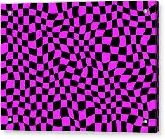 Violet Warped Polygons Acrylic Print by Daniel Hagerman