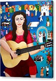 Violeta Parra And The Song Black Wedding II Acrylic Print