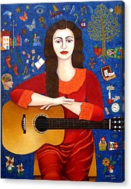 Violeta Parra And The Song Thanks To Life Acrylic Print