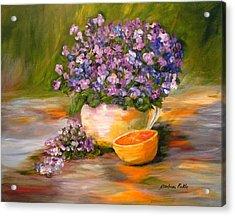 Violets Are Blue Acrylic Print by Barbara Pirkle
