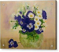 Violets Acrylic Print by Svetla Dimitrova