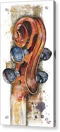Violin 02 Elena Yakubovich Acrylic Print
