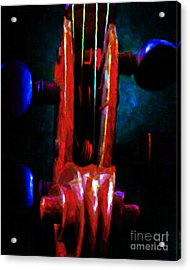 Violin 2 - V1 Acrylic Print by Wingsdomain Art and Photography