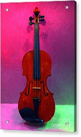 Violin - 20130111 V1 Acrylic Print by Wingsdomain Art and Photography