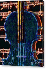 Violin - 20130128 Acrylic Print by Wingsdomain Art and Photography