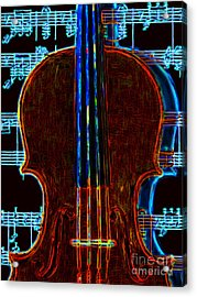 Violin - 20130128v1 Acrylic Print by Wingsdomain Art and Photography