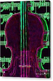 Violin - 20130128v2 Acrylic Print by Wingsdomain Art and Photography