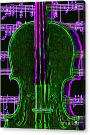 Violin - 20130128v4 Acrylic Print by Wingsdomain Art and Photography