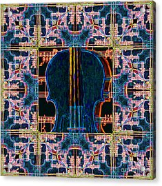 Violin Abstract Window - 20130128v1 Acrylic Print by Wingsdomain Art and Photography